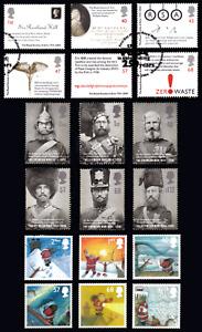 2004 Britain Sets of Royal Soc. of Arts, Crimean War and Christmas USED