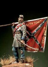 Escala 1/32 54mm soldado confederado Virginia teniente figura histórica