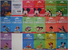 16 Different DISNEYLAND Passport Disney Gift Cards 2009: Fantasmic, Mickey++(+1)