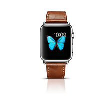Apple Watch Band, 42mm Strap Premium Vintage Genuine Leather (Brown)