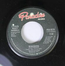 Rock 45 Leon & Mary Russell - Windsong / Satisfy You On Paradise Records