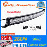 50INCH CURVED 288W LED WORK LIGHT BAR COMBO 4WD FOG TRUCK FOR JEEP BOAT VS 52/54