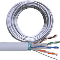 50M CAT6 FTP/STP Shielded Cable Reel/Drum-Pure Copper-Ethernet Network LAN RJ45