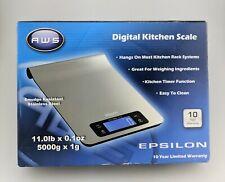 America Weigh Scales Epsilon Digital Kitchen Scale Open Box Excellent Shape