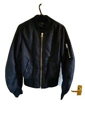 Black Topshop Bomber Jacket Coat Size 6 (4722)