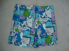NWT new Vintage 60's Globe Map surfboard Swim suit Shorts Men's M