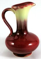 Pitcher Ceramic Hand Glazed Mid Century Modern Germany Red Pottery Vintage Moder