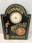 "Guinness Wooden 3D Bottled Draught 9D Beer Pint Sign Clock 18""x13"" *Needs Arms*"