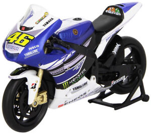 VALETINO ROSSI FACTORY YAMAHA YZR-M1 MOTO GP Die-Cast Toy Model Bike NEWRAY 1:12