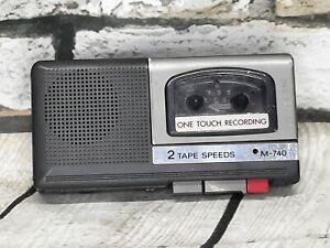 Sony M-740 Handheld MicroCassette Tape Recorder 2 Speeds