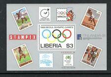 LIBERIA 1081, 1988 SUMMER OLYMPICS, S/S, MNH (LIB088)