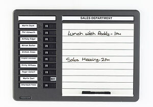 Indesign Drywipe In Out Muster Fire Drill Message Board 10 Names