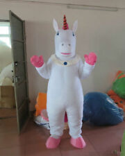 New Unicorn Cartoon Mascot Costume Fancy Dress Halloween party game Adult Size