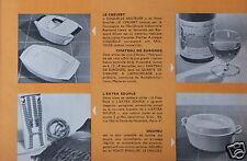 PUBLICITÉ 1961 LE CREUSET COQUELLE SAUTEUSE DOUFEU FONTE ÉMAILLÉE - ADVERTISING