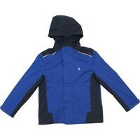 Polo Ralph Lauren Boy's Navy Blue Silver Full Zip Hooded Jacket