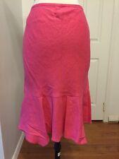 NWOT Ann Taylor Loft Linen Skirt Pink Size 12P