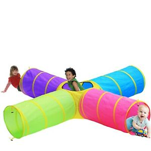Kids FUN 4 Directional Play Tunnel Pop up Toy w/Bag, EASY EXP SHIP!! HOT BUY!!