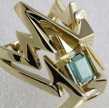 Green Tourmaline Large Ring Alan Giovanetti 18K Yellow Gold Size 10.5 WHOLESALE!