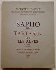 Sapho Tartarin sur Les Alpes A DAUDET & ill A LOMBARD éd Rombaldi 1930