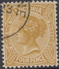 Stamp 4d olive sideface Victoria 1901 cancelled to order, MUH original gum