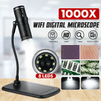 1000X 2MP Wifi Digital Microscope Magnifier Camera Adjustable 8 LED  !!