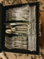 72 Piece Steiffler Cutlery Set; 24 Carat Gold Plated Design Work