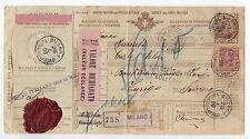 1908 REGNO BOLLETTINO DI SPEDIZ. 1,25 LIRE+COMPLEMENTARE 10C PERFIN C/5963