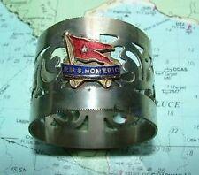 c1920 RMS Homeric White Star Line Enamel Napkin Ring