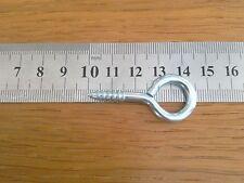 SCREW IN EYE HOOKS Eyelet Eyepin Screw 10 QTY 45mm long