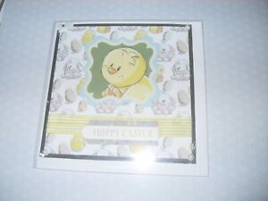 Children's Easter Card - Chick / Rabbit - Handmade with Envelope - no words (57)