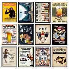 Alcohol Retro Metal Signs/Plaques Man Cave, Cool Novelty Gift, Bar/ Pub 12