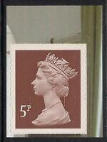 GB 2011 sg U3057 5p Dull Red Brown s/a Morris booklet stamp MNH ex U2993