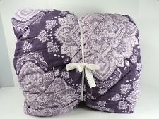 Pottery Barn Teen Ana Medallion Floral Comforter Full Queen Dark Purple #6952