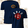 New San Diego California Firefighter Fire Department Firearm Navy T SHirt S-3XL