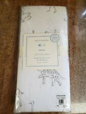 New Pottery Barn Reese Baby Crib Fitted Sheet 100% Organic