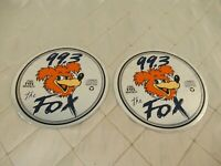 CFOX 99.3 Decals Vancouver Radio Fox Hunt 1989 Vtg CD Stickers Lot of 2