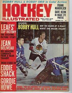 1967 Hockey Illustrated Magazine Bobby Hull, Chicago Blackhawks Jean Beliveau VG