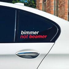 BMW bimmer not beamer window windshield sticker stance drift decal beemer