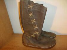 El Naturalista Women's Size 40 (9 US) Brown Leather Side Zip Boots - Super Nice