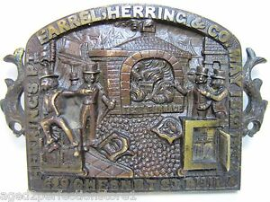 Antique FARREL HERRING & Co FIREPROOF SAFE Plaque Sign pat 1852 PHILA Ornate