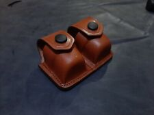 D003-SW Leather Double Speed loader Carrier/Case/Pouch Smith&Wesson Handmade!