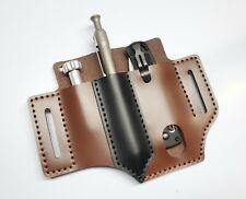 Brown Dragon Leather EDC Belt Pocket Organizer for knives, tools, flashlight