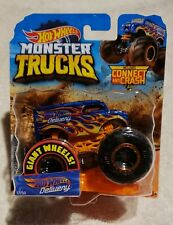 2019 Hot Wheels 1:64  Monster Trucks Dairy Delivery With Connect And Crash Car