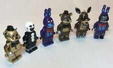 Five Nights At Freddy's FNAF Custom Lego Minifigures Mini Fig Set of 6