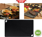 Reversible Cast Iron Grill Griddle Fits Over Two Stovetop Burners Over Campfire