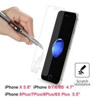 Verre Trempé Film Vitre Protecteur Protection écran pour iPhone X 6/8PLUS 7plus