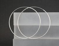 Creolen Ohrringe 925 Sterling Silber Ohrschmuck runde große Kreolen 30 60 75 mm