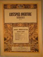 Vintage Sheet Music Lustspiel Overture Comedy Piano Op. 73 No. 642