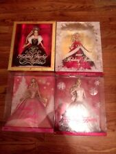 Lot of 4 Holiday Barbies 2006- 2007- 2008 2009