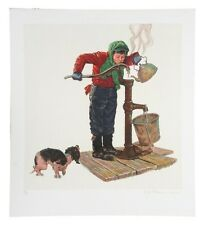"""""""Winter Morning"""" by Norman Rockwell Lithograph on Arches Paper Ettinger Inc"""